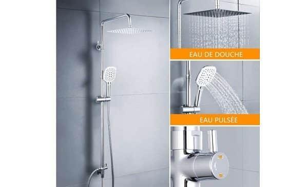 colonne de douche ajustable en hauteur Dalmo