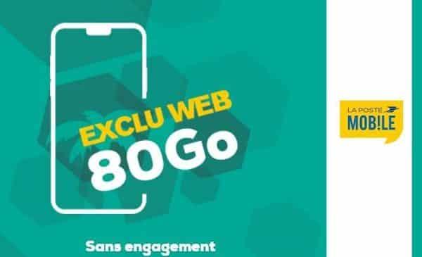 le forfait la poste mobile 80go sans engagement