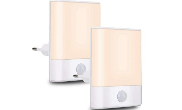 lot de 2 veilleuses LED avec détecteur de mouvement Brisun