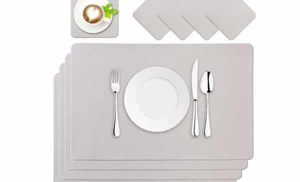 lot de 4 sets de table imitation cuir 45 x 30 cm