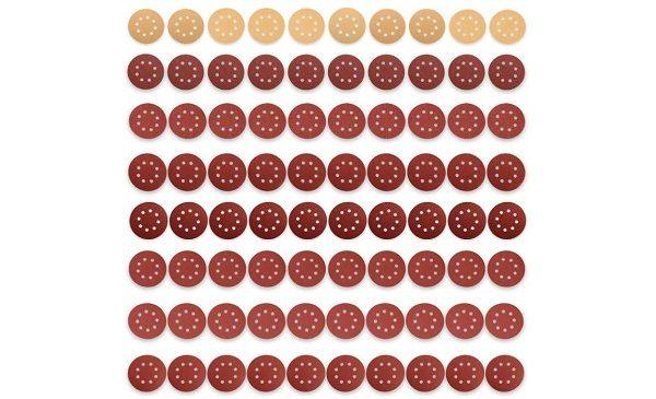 lot de 80 disques de ponçage Ø 125 mm JELLAS