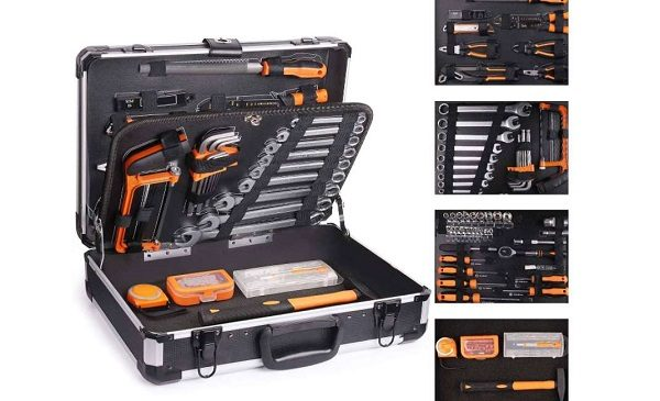 mallette alu à outils de 136 outils et embouts