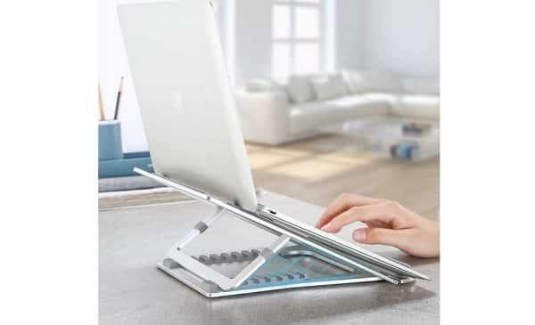 support pliable en aluminium pour PC portable NATOL