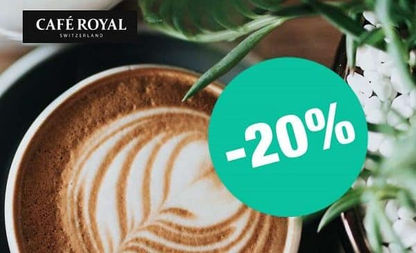 20% de remise sur les capsules compatibles avec nespresso de café royal