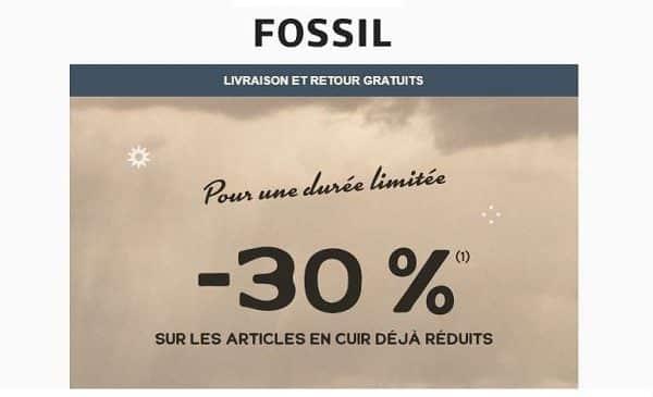 30% de remise sur les articles en cuir fossil déjà réduits