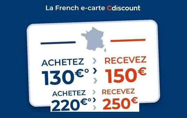 E-carte cadeau Cdiscount spéciale French Days