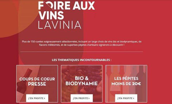 Foire au vins Lavinia
