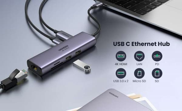 HUB USB C PD 100W 7 en 1 UGREEN