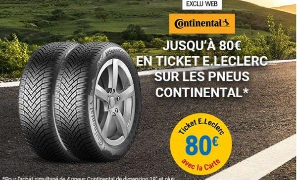 Offre Continental Auto E. Leclerc