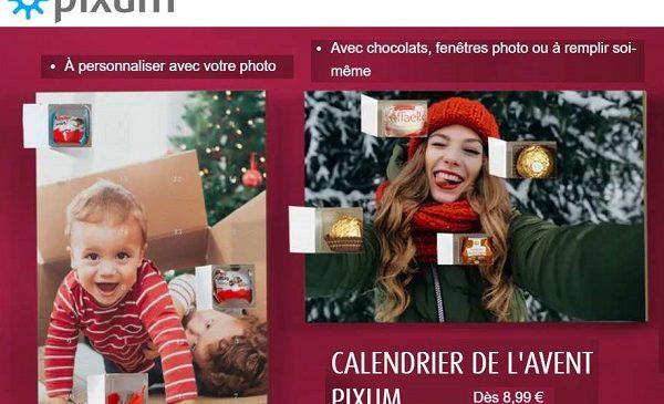 Offre spéciale calendrier de l'Avent personnalisé avec photos Pixum