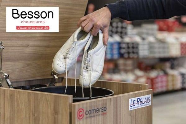 Opération recyclage Besson Chaussures : vos anciennes chaussures reprises contre un bon d'achat