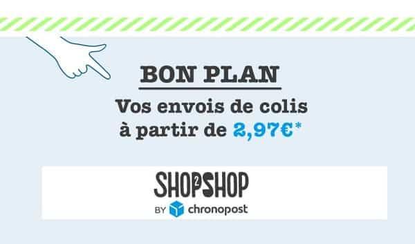 Shop2Shop by Chronopost : Envoi de colis jusqu'à 1 kg à 2,97€
