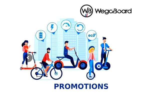 Trottinette électrique, vélo électrique, Hoverboard, Hoverkart... en promotion sur Wegoboard