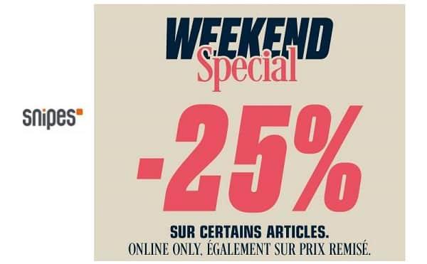 Weekend Spécial Snipes : 25% de remise sur des milliers d'articles