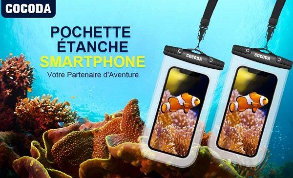 lot de 2 pochettes pour smartphone et iphone étanches cocoda