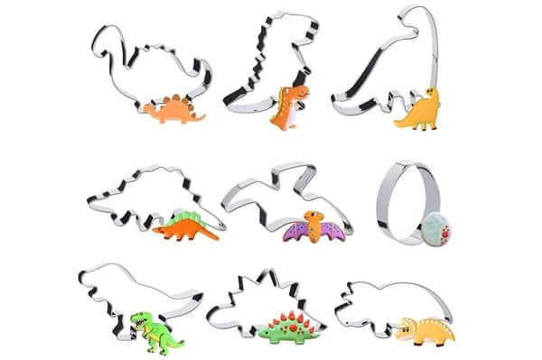 lot de 9 formes emporte pièce dinosaures en acier Pukitt