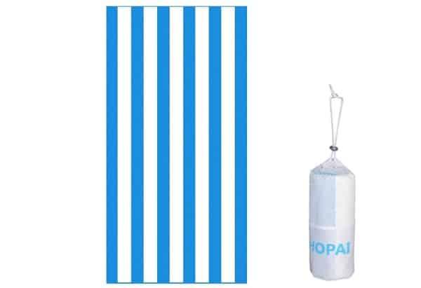 serviette de plage en microfibre 160 × 84 cm hopai