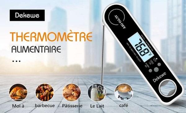 thermomètre digital alimentaire avec sonde Dekewe