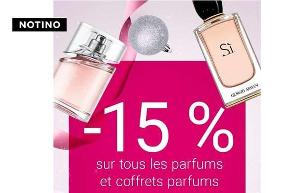 15% de remise sur tous les parfums et coffrets parfums sur Notino