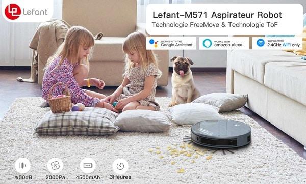 Aspirateur robot 2 en 1 LEFANT M571