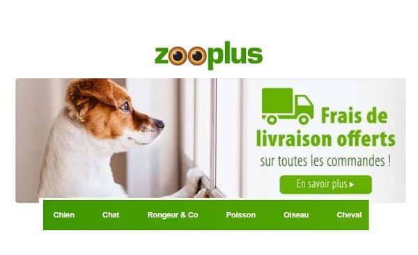 Livraison gratuite sans minimum sur toutes les commandes sur Zooplus
