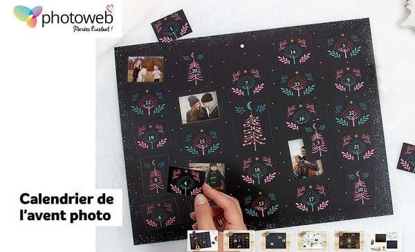 Offre spéciale calendrier de l'avent photo Photoweb