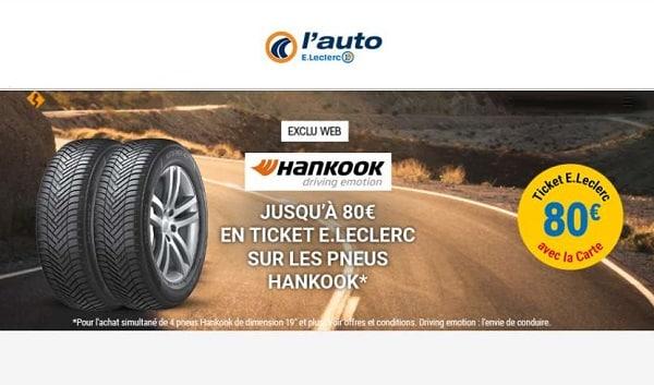 Offre spéciale l'auto E. Leclerc - Hankook