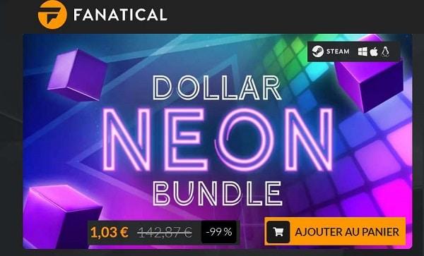 Pack Dollar Neon Bundle EGAMER : 1,03 € les 13 jeux Steam