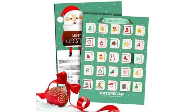Moins de 15€ le calendrier de l'Avent CBD Naturecan (avec 25 Chocolats au CBD)
