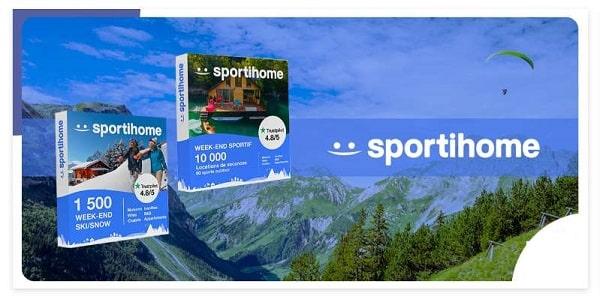 Vente privée de coffrets cadeau Sportihome moins chers pour offrir des weekends sportifs