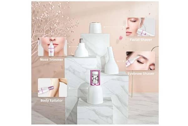 appareil multifonction 7 en 1 rechargeable (épilateur visage, brosse, massage, polissage