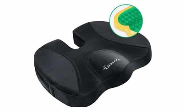 FLASH : 19,99€ coussin orthopédique à mémoire de forme pour chaise de bureau ou voitureTusscle