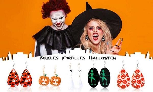 lot de 16 paires de boucles d'oreilles pendantes halloween de makone