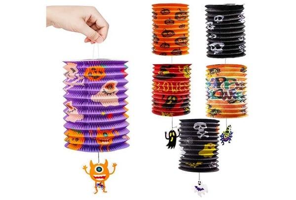 lot de 6 lampions Halloween avec figurine pendante Yumcute