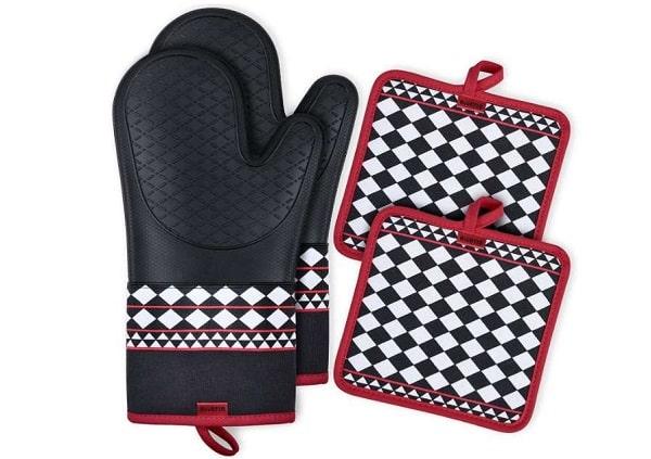 paire de gants anti chaleur (jusqu'à 240°c) + paire de maniques roontin